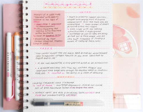 "studeity: "" 9-05-2016 // 1:58pm Continuation of the notes that I posted yesterday but a different colour scheme inspired by the peach/pink 花樣年華 pt.2 album. """
