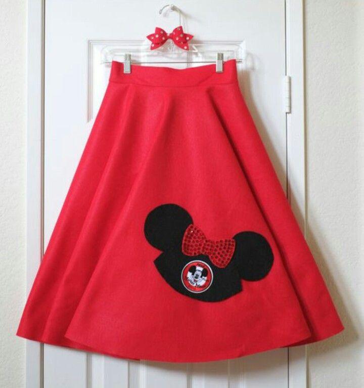 Mickey Mouse Club Ears Felt Circle Skirt By DailySparkle On Etsy