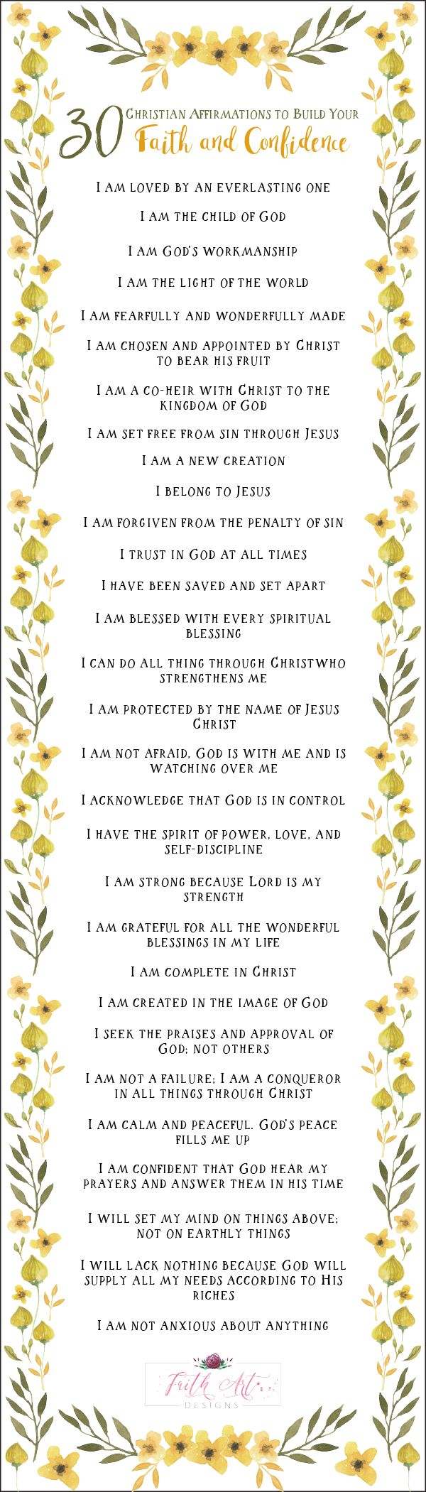 30 Christian Affirmations to Build Your Faith and Confidence