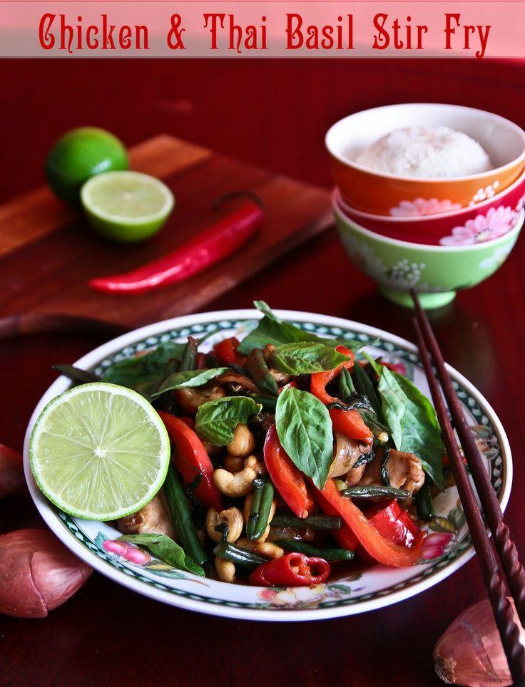 Thai Basil, Chicken & Cashew Stir Fry With Coconut Rice (& a little book update)
