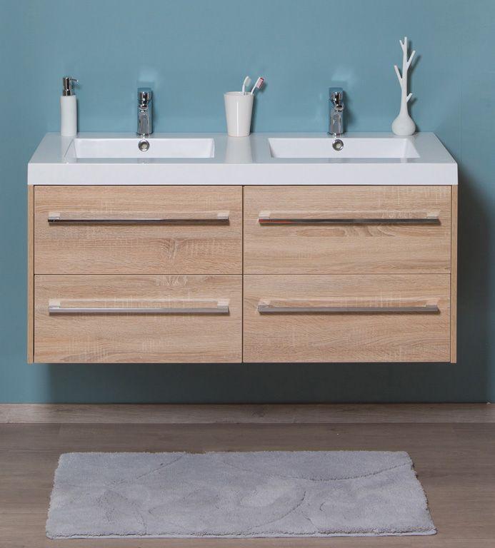 -  wastafelkast 1200 mm met 4 laden -  wastafel carré dubbel -  spiegels of spiegelkast in optie aan meerprijs -  kolomkast in optie aan meerprijs
