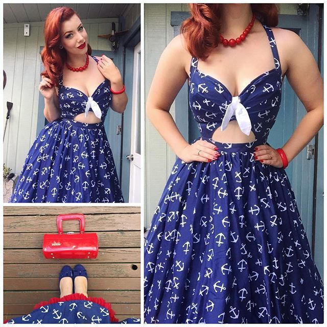 Victory Violet in a sweet anchor dress