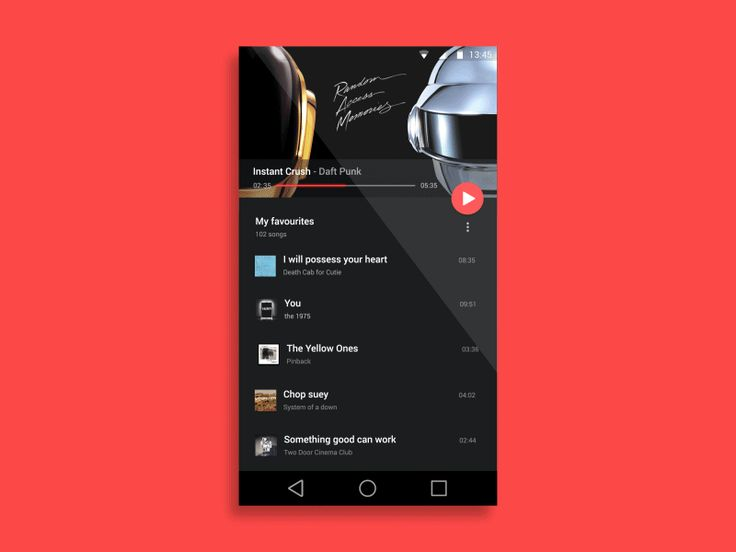 Music Player: From user interface proposal to code — Medi