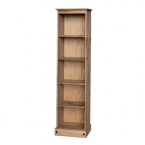 £89 Corona Mexican Pine Tall Narrow Bookcase CR946  http://www.easyfurn.co.uk/solid-oak-furniture-Bedroom/Corona-Mexican-Pine-Bedroom/Corona-Mexican-Pine-CR946