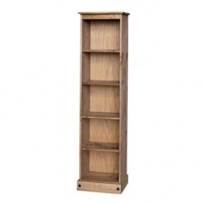 £89 Corona Mexican Pine Tall Narrow Bookcase CR946  http://www.easyfurn.co.uk/solid-oak-furniture-Bedroom/Corona-Mexican-Pine-Bedroom/Corona-Mexican-Pine-CR946