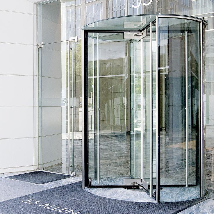 Crane 4000 Series. All Glass Revolving Door
