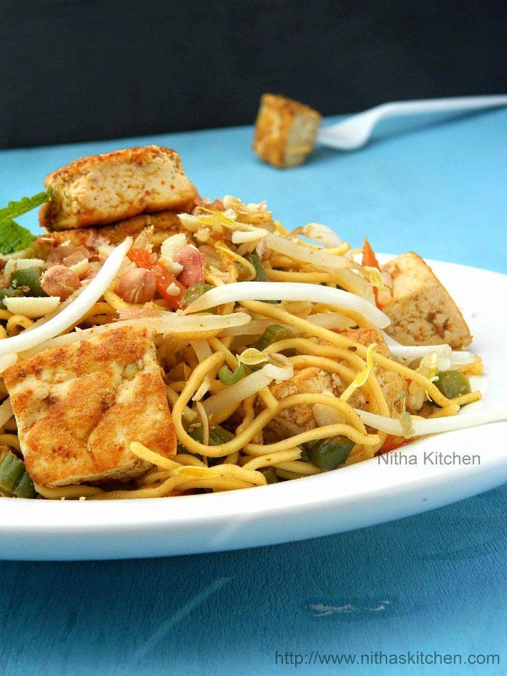 Nitha Kitchen: Tofu Pad Thai Noodles Recipe | Vegan Vegetarian Pad Thai Recipe