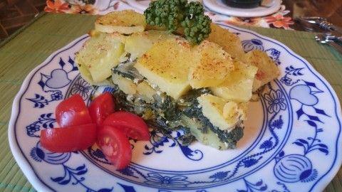 Zapečené brambory s listovým špenátem - Powered by @ultimaterecipe