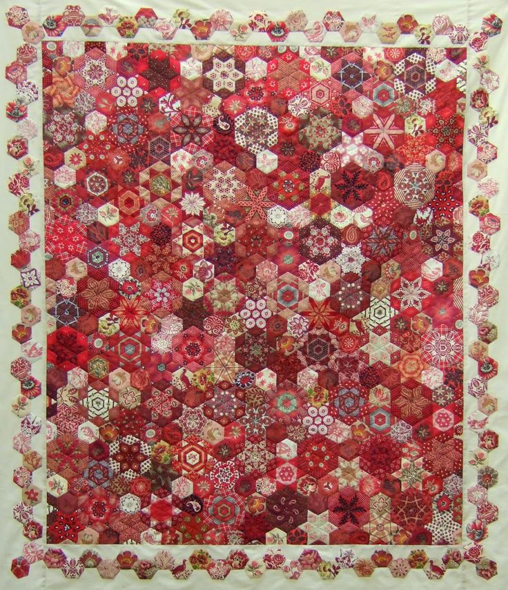 Stars Meet Hexagons, EPP quilt by Hilda at Every Stitch