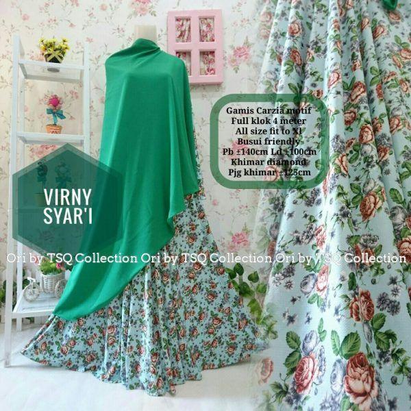 Beli Gamis Motif Bunga B132 Virny Syar'i Unik - http://www.butikjingga.com/gamis-motif-bunga-b132-virny-syari