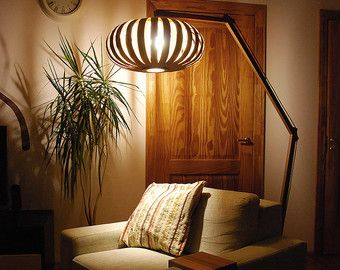 DISCOUNT 15% Included Floor lamp from bent plywood with by zyrRafo