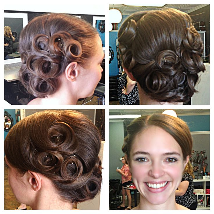 ... hairstyles updos hair long hairstyles pin curls pin curl updo hair