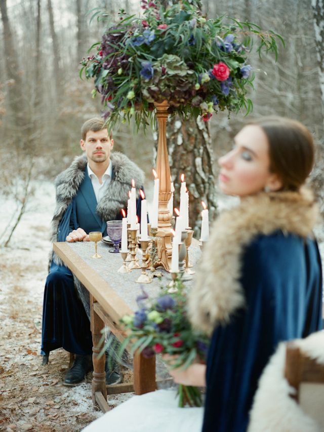 Game of Thrones wedding inspiration | Warmphoto | see more on: http://burnettsboards.com/2015/02/winter-coming-game-thrones-wedding/