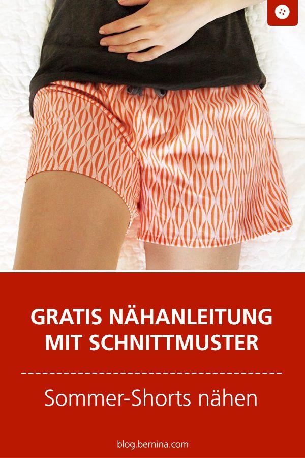 Padrão e padrão para calções de verão para costurar   – Gruppenboard: …einfach kreativ