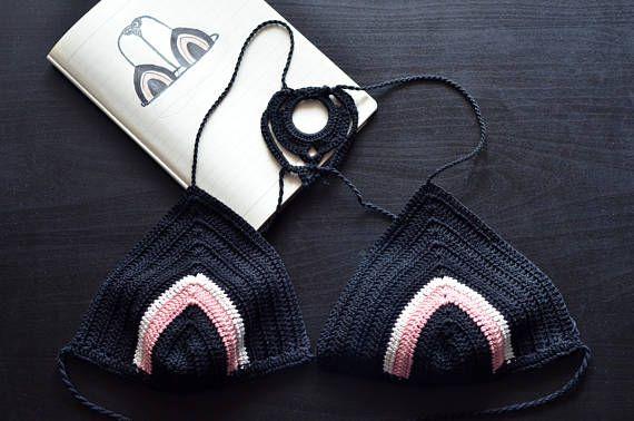 Guarda questo articolo nel mio negozio Etsy https://www.etsy.com/it/listing/510816810/bikini-crochet-nero-rosa-e-bianco