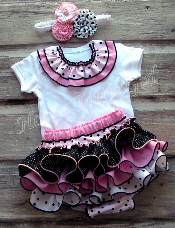 Baby Ruffle Bloomer Ruffle Diaper Cover Baby by HottieTottieGirl, $45.00