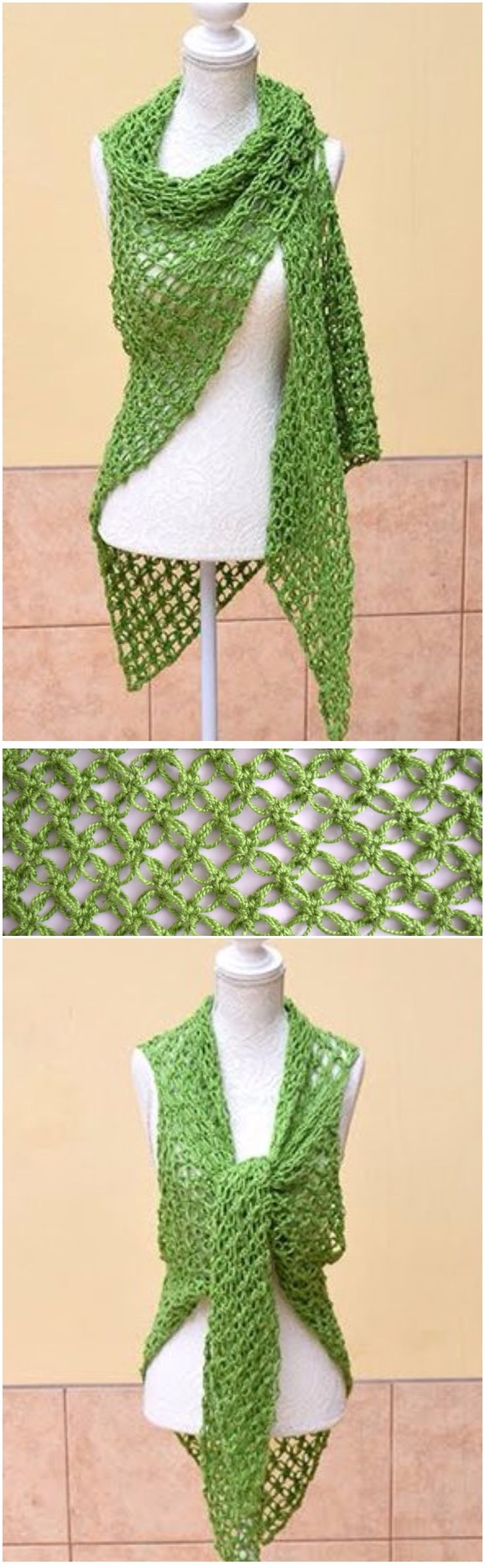 Learn To Crochet Shawl In Solomon's knot Stitch