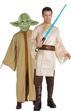 Costume coppia Maestro Yoda e Jedi Star Wars™ http://www.vegaoo.it/costume-coppia-maestro-yoda-e-jedi-star-wars-trade.html