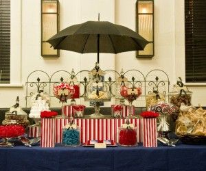 adorable indoor buffet table styled dessert design