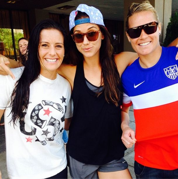 Ali Krieger, Alex Morgan, Ashlyn Harris. (Twitter) Comment which one is your favorite