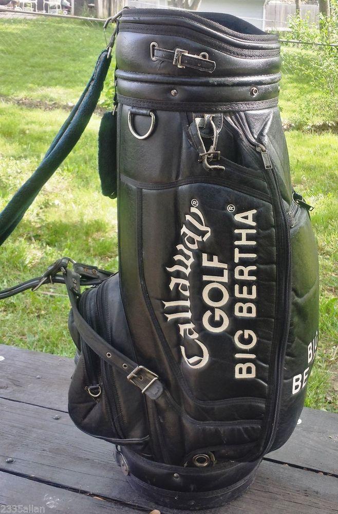 Callaway Big Bertha Black Leather Golf Bag S2h2 Staff Cart Bag Vintage Vtg 176 Pinterest