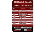 3.5x2.25 in One Team Cleveland Browns Football Schedule