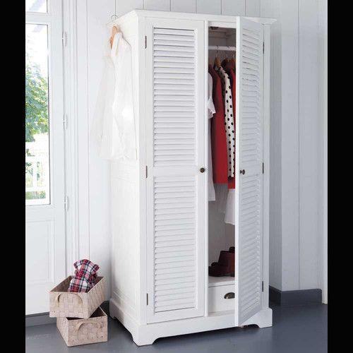 Maison du monde - Guardaroba bianco in legno L 86 cm