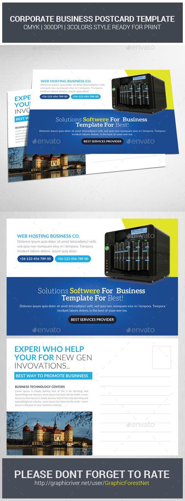 Best Postcards Images On Pinterest Postcard Design Print - Postcard flyer template