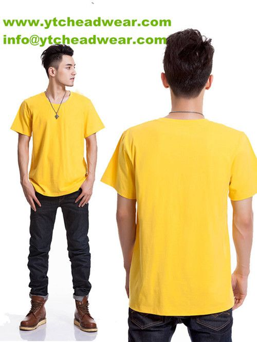7f3326091 cotton blank T- shirts for men ,yellow color. Any want to buy plain t shirts,  welcome to find us.We can supply the blank t shirts, different fabric, ...