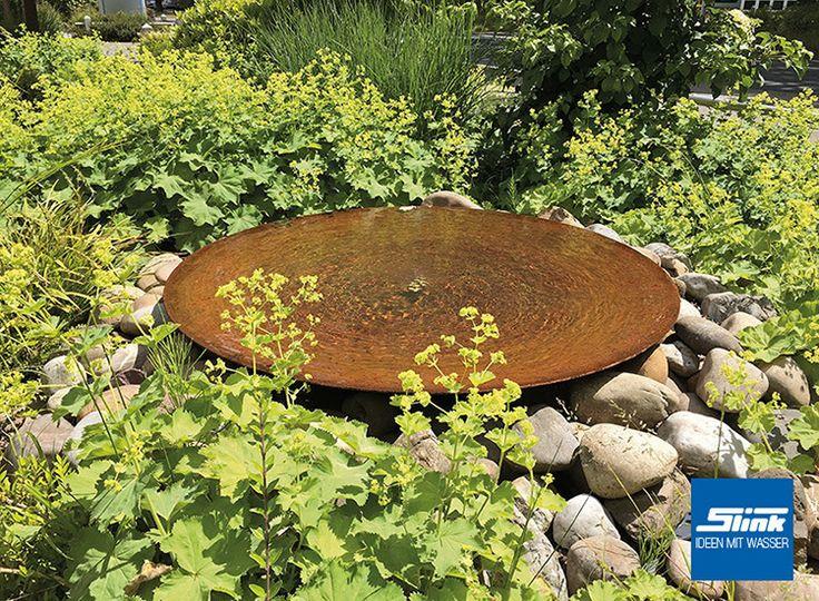 Gartenbrunnen Cortenstahl-Schale 100