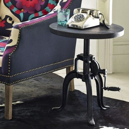 Crank side table