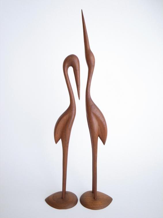 Denmark Teak Bird Sculpture