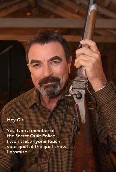 Hey Girl  Tom Selleck Quilt show