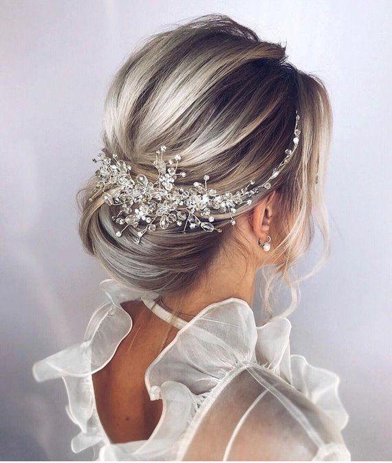 Pearl bridal hair piece Bridal hair accessories Bridal hair vine Bridal hair comb Wedding headpiece Gold hair pieces Wedding hair piece
