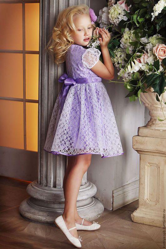 Одежда для девочек, ручной работы. Платье в французском стиле, для маленьких девочек (сирень 72). 'Рюши Ксюши' (Kseniya-spb). Интернет-магазин Ярмарка Мастеров.