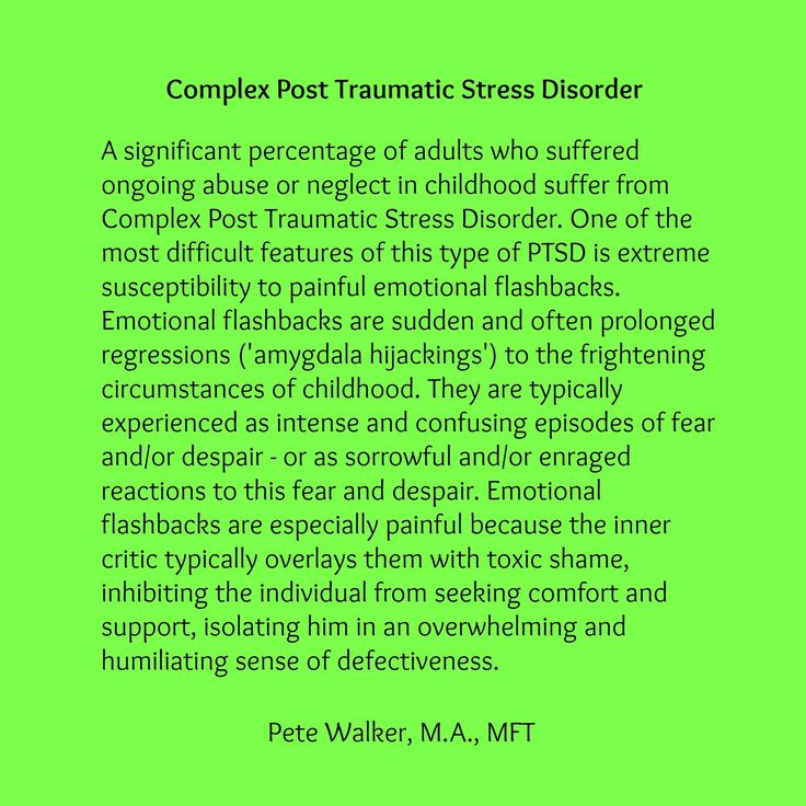 poverty neglect and trauma from posttraumatic stress • development of posttraumatic stress disorder (ptsd) following a traumatic event is the exception rather than the rule the dsm-iv introduced a new diagnostic category, acute stress disorder (asd), to recognize brief stress reactions to traumatic events that are manifest in the first month following a.