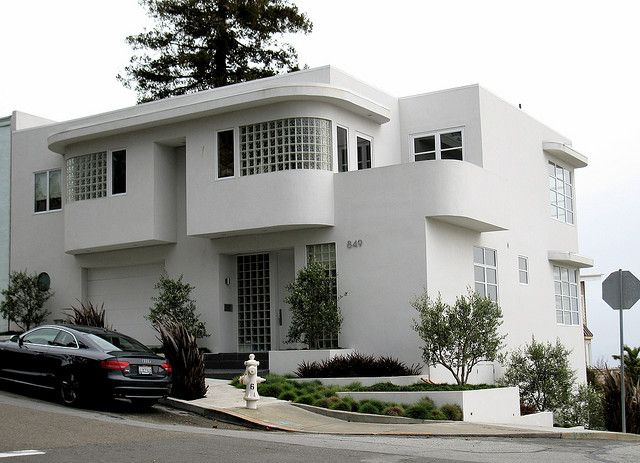180 best art deco architectural elements images on for Streamline moderne house plans