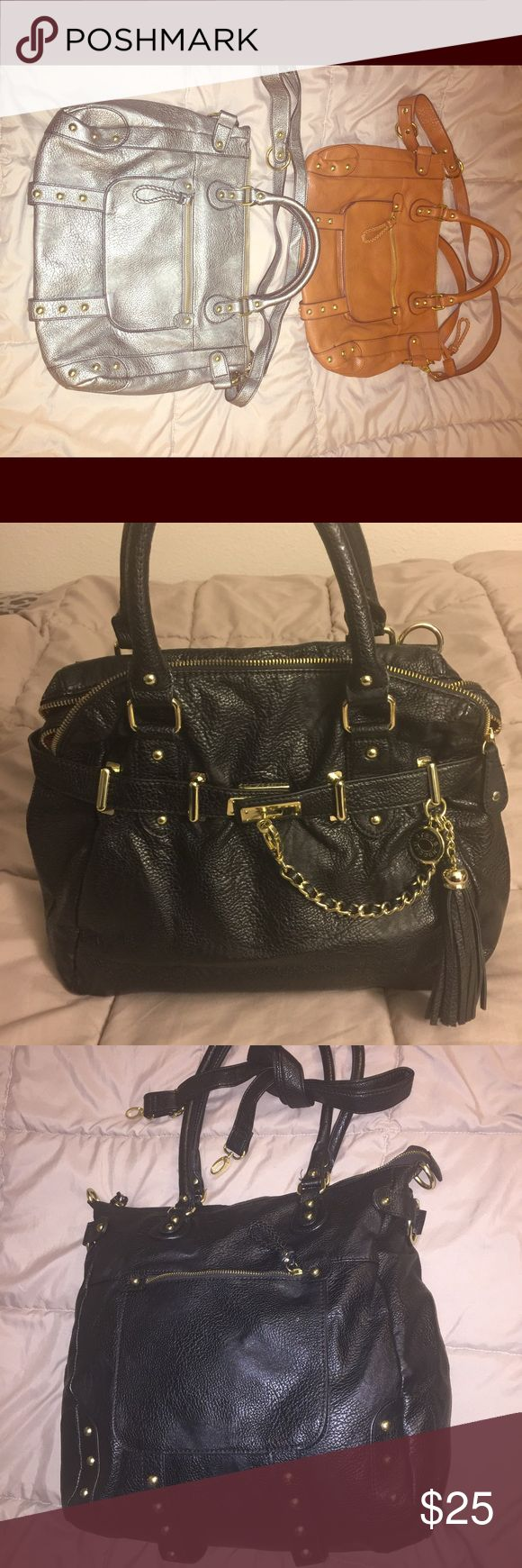 Steve Madden handbags $25 each Satchel style handbags w/cross body straps, excellent condition used once. Each bag asking $25 Steve Madden Bags Satchels