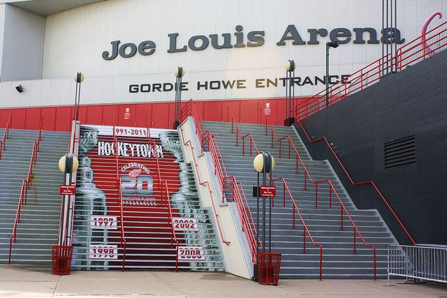 Joe Louis Arena in Detroit Michigan! LETS GO RED WINGS! I love this arena. I love Red Wings <3