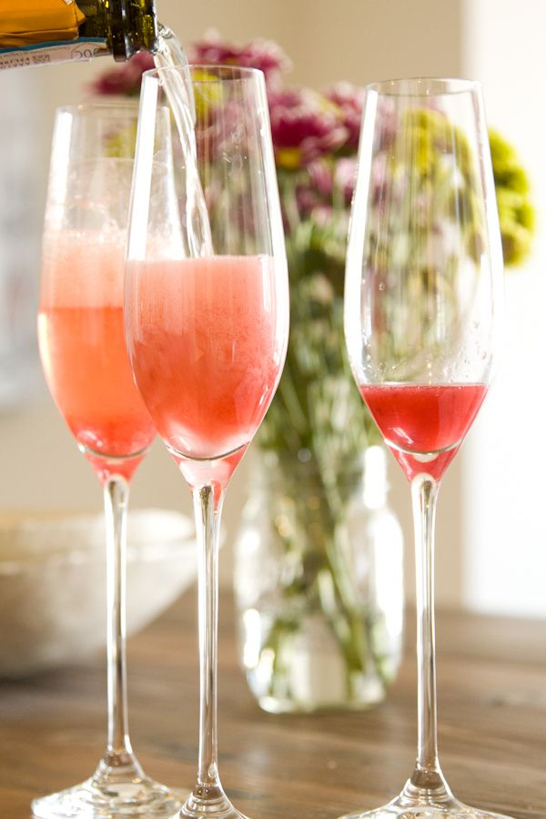 Blood Orange Mimosas... these were on food network yesterday, Barefoot contessa show, along with many others. Yummy!