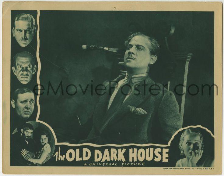 eMoviePoster.com: 1x267 OLD DARK HOUSE LC R1939 Melvyn Douglas in chair with knife in it, Boris Karloff in border!