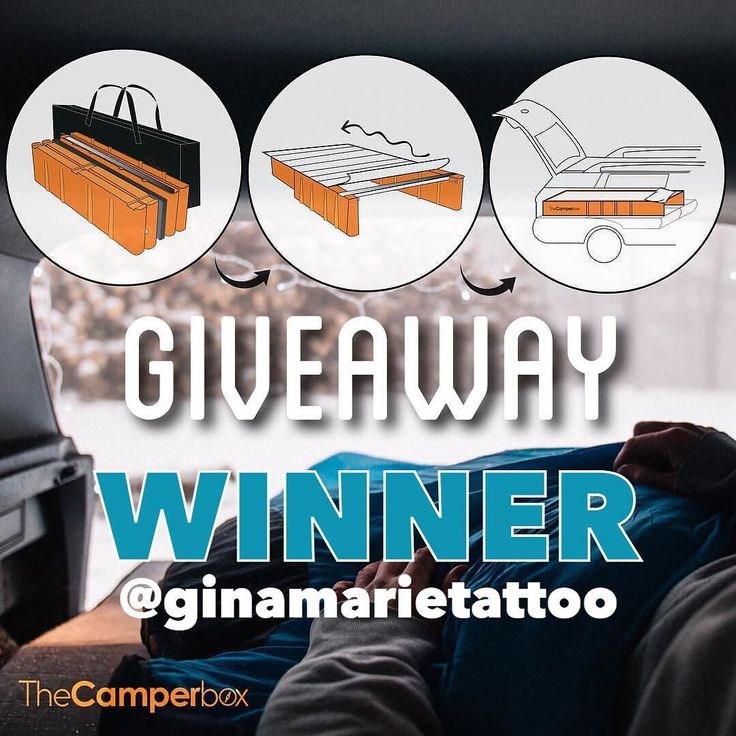 The winner of THE CAMPERBOX giveaway is @ginamarietattoo  @thecamperbox will be made contact direct with the lucky vanlifer!  Comment sequential number 188 was the winner of the giveaway. Result link in a BIO.  #vanlifers #vanlife #thecamperbox