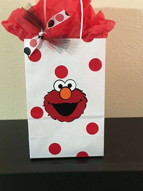 Elmo party favor bags by DivineGlitters on Etsy