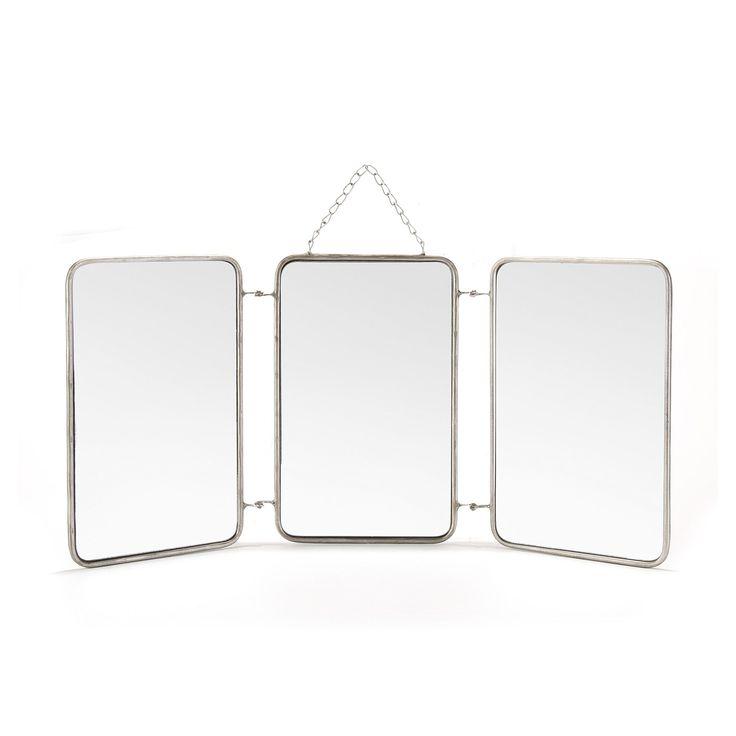 Miroir triptyque 3x 20x32cm - Barbier - Les miroirs-Miroirs-Toute la déco-Par type de produit - Décoration intérieur - Alinea