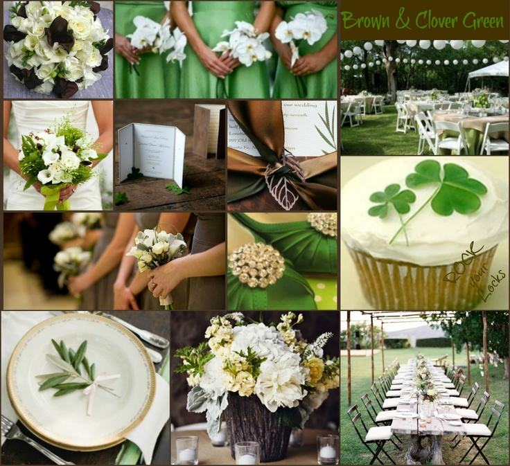 BROWN & CLOVER GREEN WEDDING by Rock your Locks