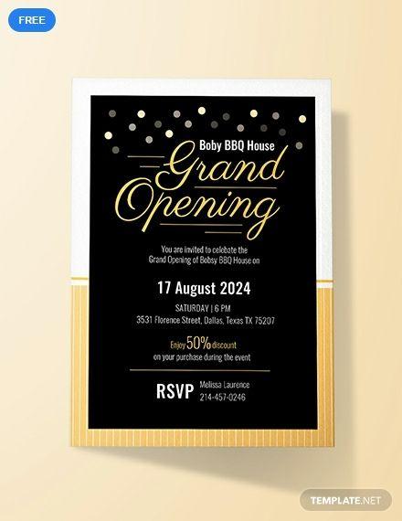 free grand opening invitation card