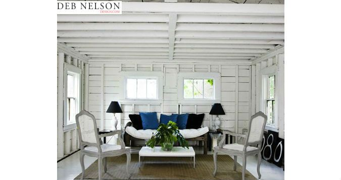 Converted garage into summer living space