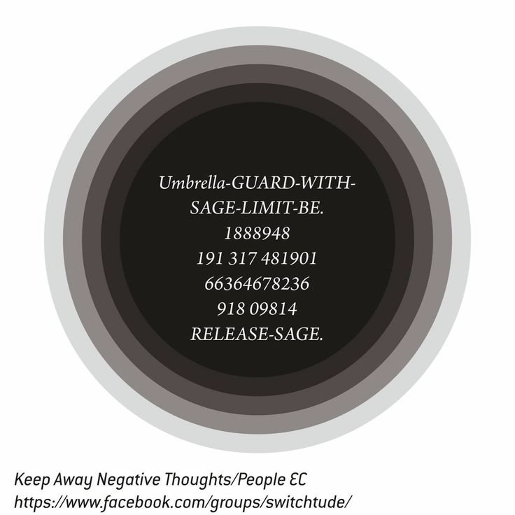 "Keep Away Negative Thoughts/People EC  ""Be Deaf to negative thoughts/people. If your aim is to reach your goal"".  How to use: 1. Print, Laminate. 2. Chant, Sing. 3. Write on your left hand with blue ink. 4. Carry in your purse/wallet/pocket facing your body."