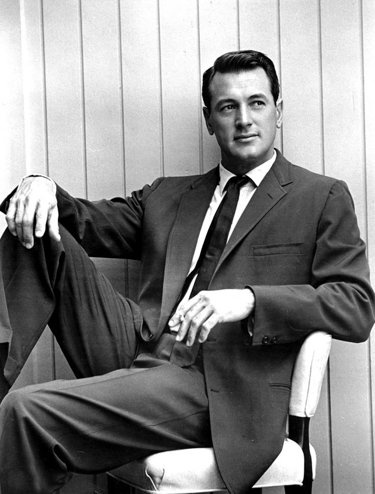 Rock Hudson - One of the most charming actors of his era, Rock Hudson racked up nearly seventy roles in his thirty-six-year career. Hudson had the classic Hollywood style nailed down — impeccably tailored suits, impressively coiffed hair — and would become beloved for his turns as the leading man in films like Pillow Talk and Giant.