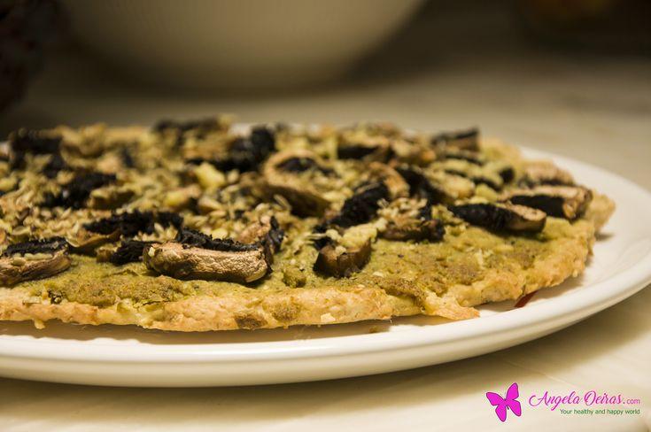 Pizza de aveia com pesto – angela oeiras.com